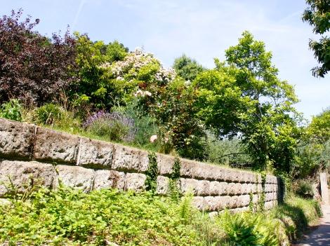Natursteinmauer Jersey